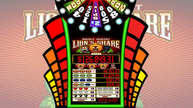 Double Jackpot Grand Wheel Lions Share Slot Machine