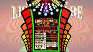 Double Jackpot Grand Wheel Lions Share Slot Machine